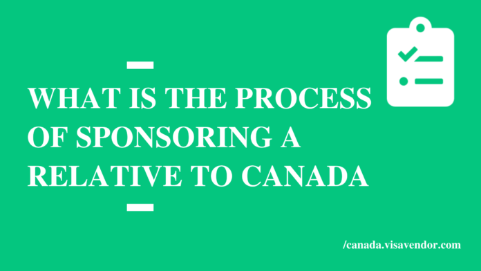 What is the Process of sponsoring a relative to Canada